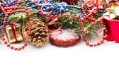 Christmas Decoration Over white Background — Stock Photo