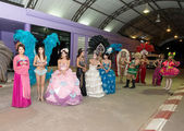Ladyboy in carnival costumes — Stock Photo