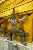 Wat Phra Kaeo, Temple of the Emerald Buddha and the home of the Thai King. Wat Phra Kaeo is one of Bangkok's most famous tourist sites and it was built in 1782 at Bangkok, Thailand. — Stock Photo