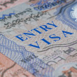 Stock Photo: Page of passport with visa