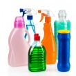 Cleaning product plastic container for house clean on white background — Stock Photo #41386987