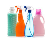 Cleaning product plastic container for house clean on white background — Stock Photo