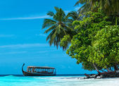 Perfect tropical island paradise beach Maldives — Stock Photo
