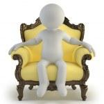 3d small - luxurious armchair — Stock Photo