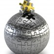 Stock Photo: 3d small - puzzle sphere