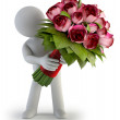 Stock Photo: 3d small - bouquet of rose