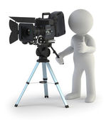3d small - Cameraman — Stock Photo