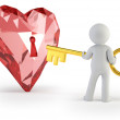 3d small - key from heart — Stock Photo #20729563