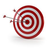 Three arrows in target — Stock Photo