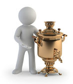 3d small - samovar — Stock Photo