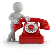 3d small - call by telephone — Stock Photo