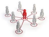 3d small - partner network — Stock Photo