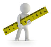 3d small people - ruler — Stock Photo