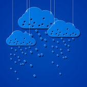 在绳子上的云风格贴纸 — 图库矢量图片