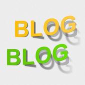 Bir etiket biçiminde word blog — Stok Vektör