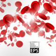 Stock Vector: Background with red blood cells