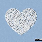 Coeur de pilules — Vecteur