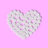 Cuore di pillole — Vettoriale Stock