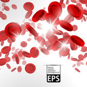 Background with red blood cells — Stock Vector