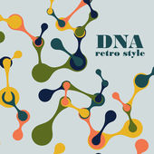 Vintage structure of the DNA molecule — Vector de stock