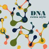 Vintage struktur av dna-molekylen — Stockvektor