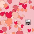 Eps, valentine background — Stockvectorbeeld