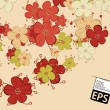 Vector de stock : Eps, floral background