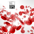 Eps, background with red blood cells — Stock Vector