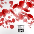 Stock Vector: Eps, background with red blood cells