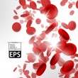 Eps, background with red blood cells - Stok Vektör