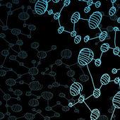 Eps, handgezeichnete dna-molekül — Stockvektor