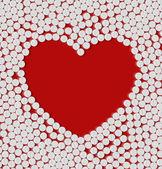 Eps, herzen von pillen — Stockvektor