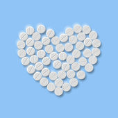 Eps, Heart of pills — Stock Vector