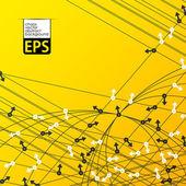Eps, фон с случайным образом направлены стрелы — Cтоковый вектор