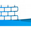 Vector de stock : Brickwork sticker