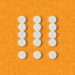 Exclamation mark of the pills — Imagens vectoriais em stock