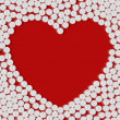 Heart of pills — Vettoriali Stock