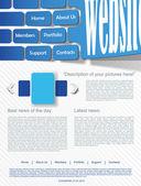 šablona návrhu webové stránky — Stock vektor