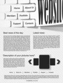 Website ontwerpsjabloon — Stockvector