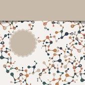Vintage structure of the DNA molecule — Cтоковый вектор