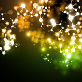Dna molekülünün yapısını neon — Stok Vektör