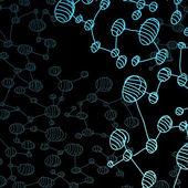 Hand drawn DNA molecule — Stock Vector