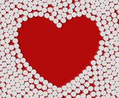 Corazón de píldoras — Vector de stock