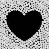 Hart van pillen — Stockvector