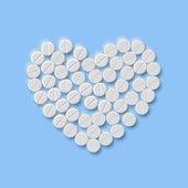 Srdce prášků — Stock vektor