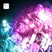 Arrow neon background — Stock Vector