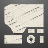 Modern design, ange av business objects — Stockvektor