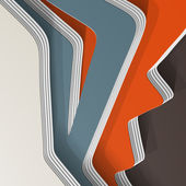 3D style, abstract background with lots of layers — Stok Vektör