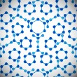 Molecular structure, abstract background — Stockvectorbeeld