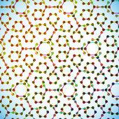 分子構造、抽象的な背景 — ストックベクタ